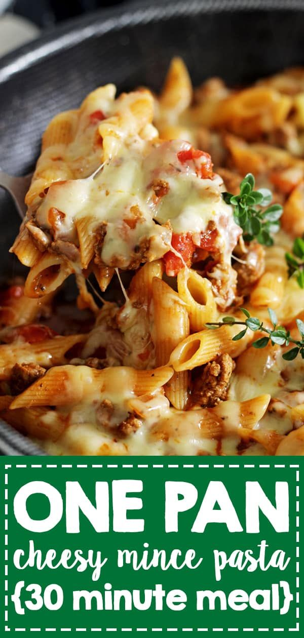 Cheesy One Pan Mince Pasta