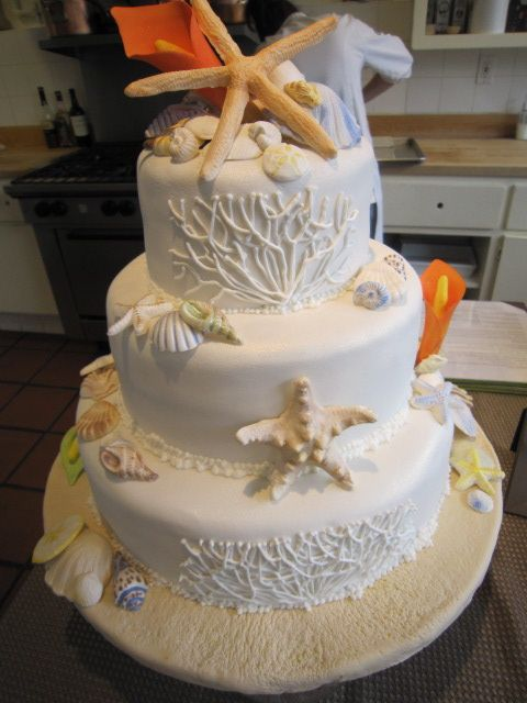 beach theme wedding cakes theme wedding cake wedding ideas 1546