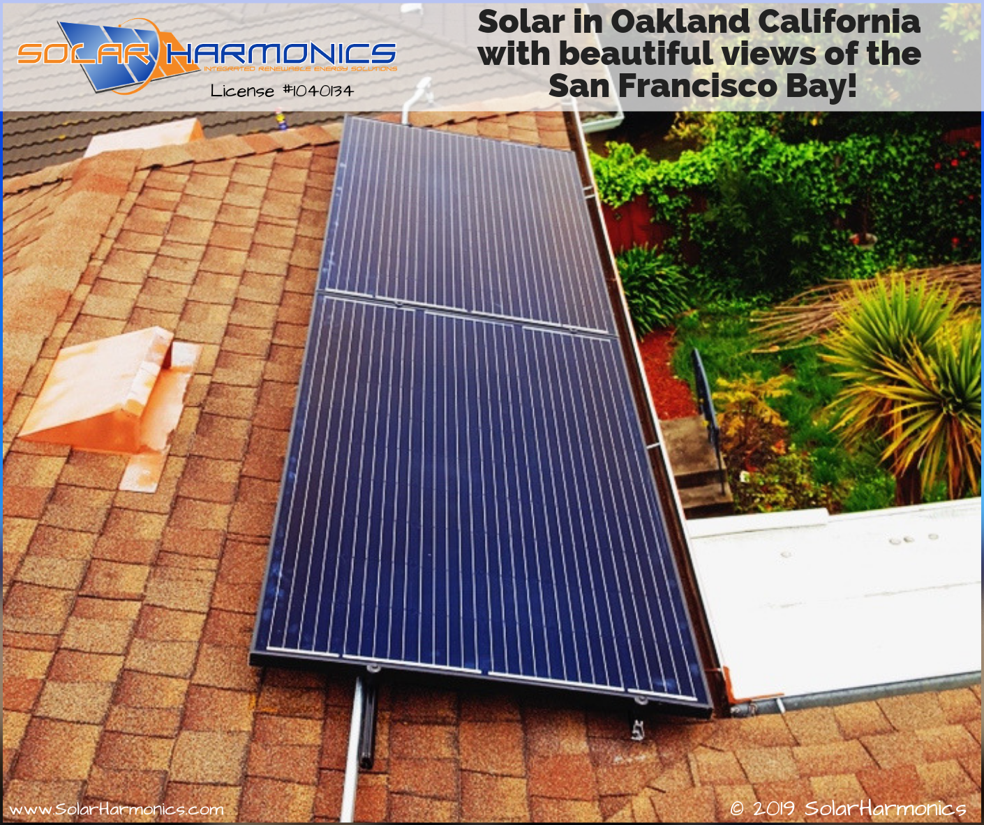 Solar In Oakland California With Beautiful Views Of The San Francisco Bay Solaredge Technologies Inc Axi With Images Solar Installation Solar Beautiful Views