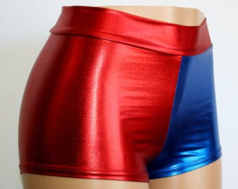 Harley Quinn Suicide Squad Inspired Cosplay Blue-Red Holographic ...