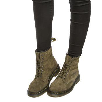 Womens Khaki Dr Martens 1460 8 Eye Boots   schuh