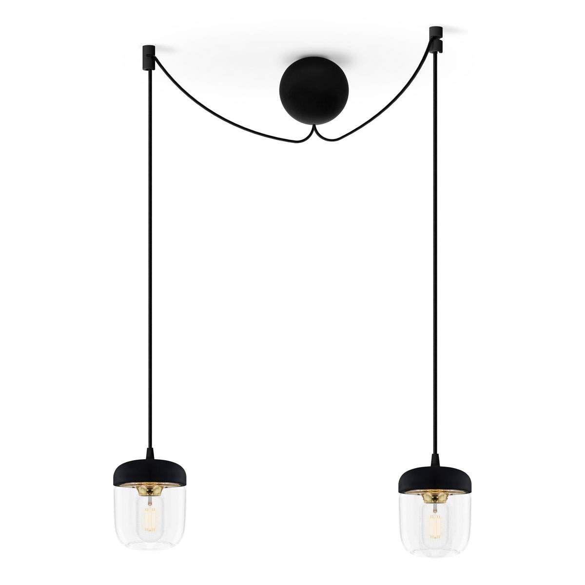 Umage Acorn Hangelampe 2 Flammig Schwarz Messing Lampe Hange Lampe Hangeleuchte