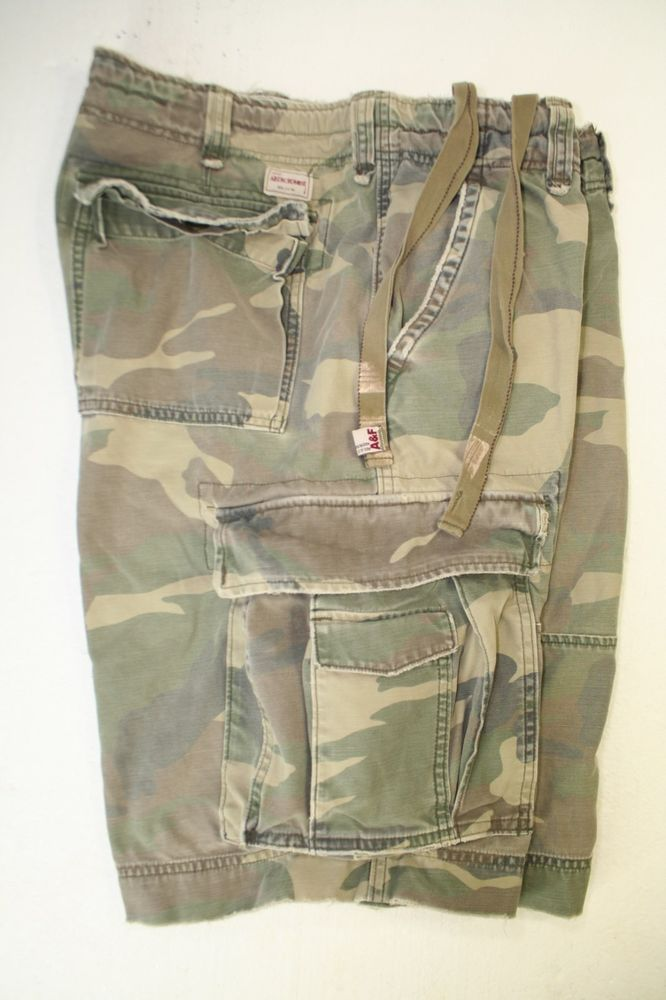 SOLD! Abercrombie & Fitch 1892 1B Green Camo Cargo Shorts ...