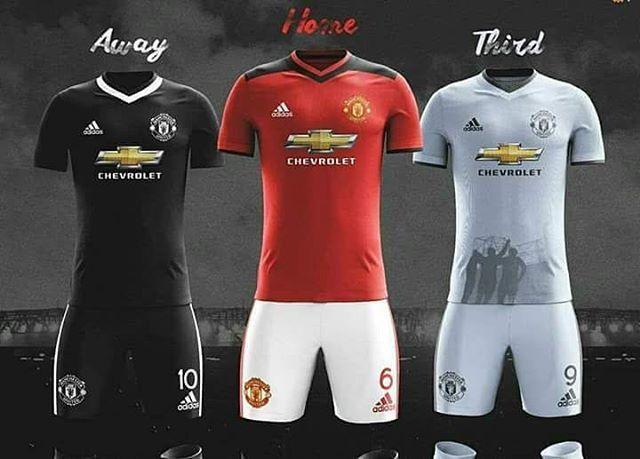 buy popular de308 f2fef Rumored United kits for next season !! | Manchester United ...