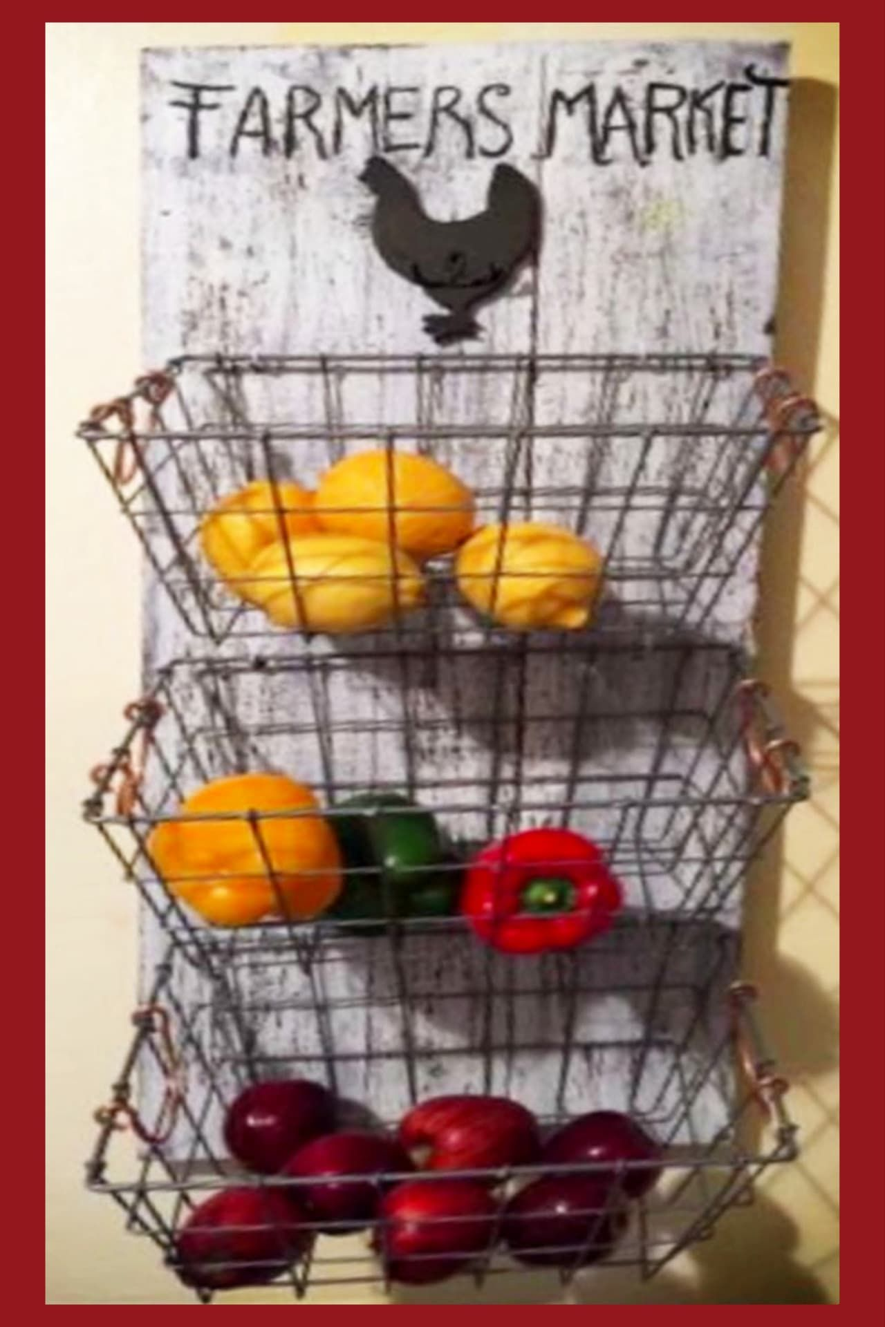 Diy Hanging Fruit Basket Ideas And Pictures Unique And Easy Wall Mounted Fruit Baskets Hanging Fruit Baskets Fruit Storage Diy Pallet Projects