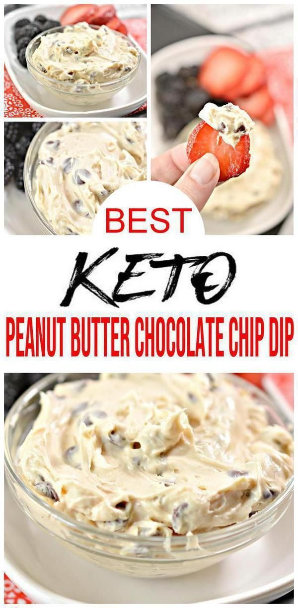 Keto Dip – EASY Low Carb Peanut Butter Chocolate Chip Dip Recipe – BEST Snack or Parties Dip Idea