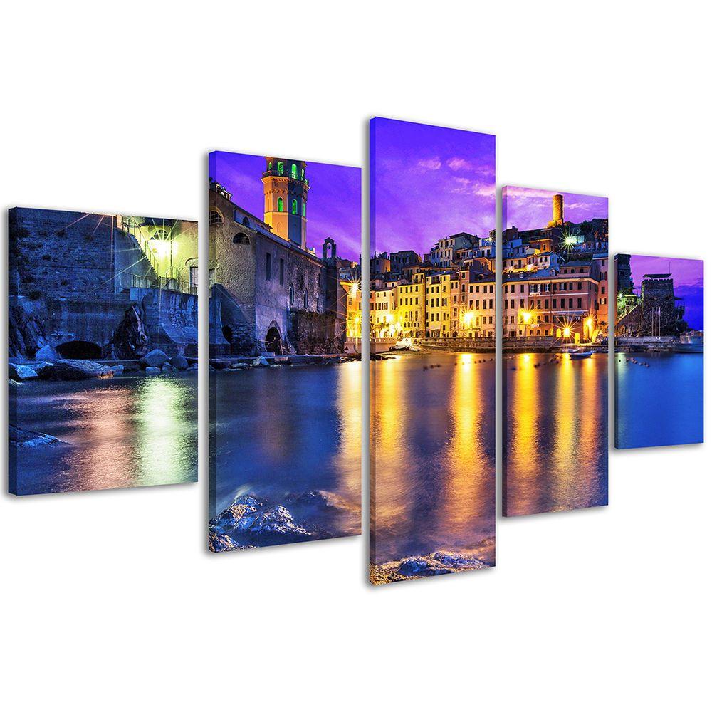 Stampa su Tela 200 x 90 cm Quadri Moderni XXL Cinque Terre Liguria ...