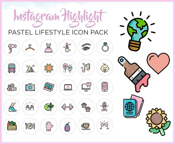 Instagram Story Highlight Icon Set 80+ Instagram Icons