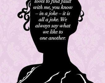 jane Austen silhouette quote art | Illustration + Pattern ...