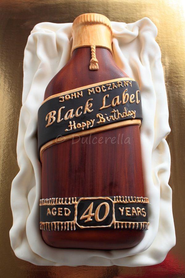 Johnny Walker Black Label Cake My Food Bottle Cake
