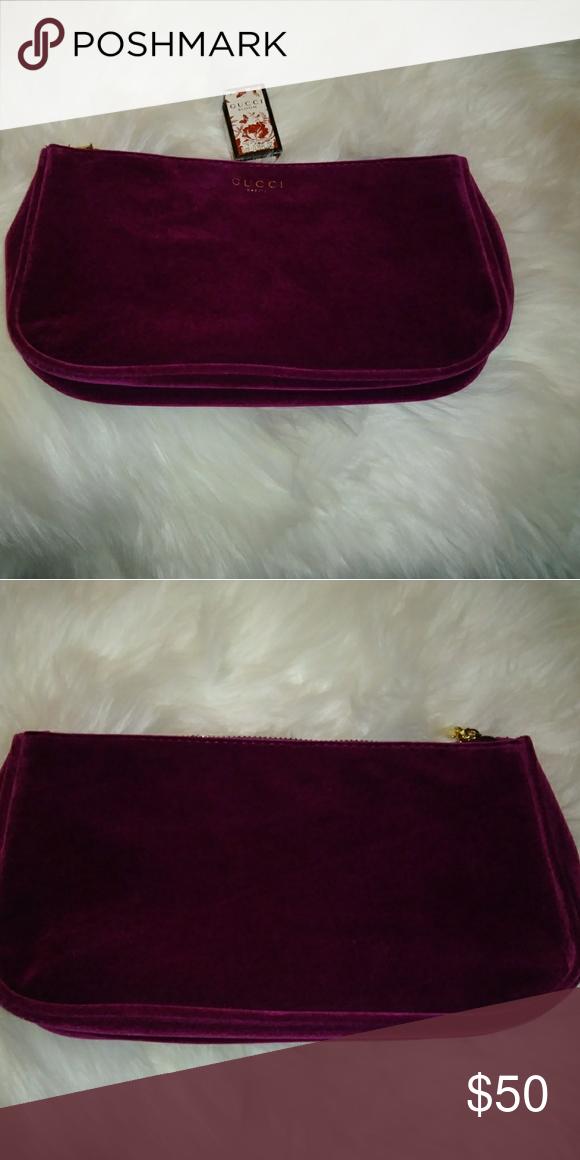 bdf3eb3d70c7 Gucci makeup bag Gucci beauty makeup bag. It's a plum red/burgundy velvet  material