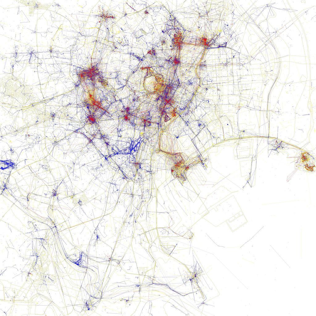 Deze stadskaarten laten zien waar foto's in populaire steden genomen worden | Motherboard