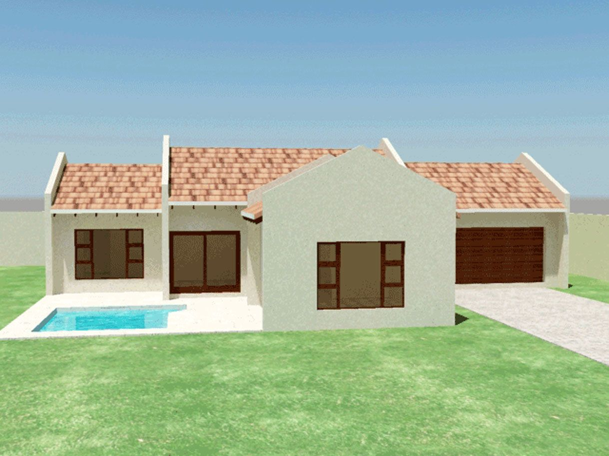 Three Bedroom House Plan House Plans South Africa Bedroom House Plans Flat Roof House