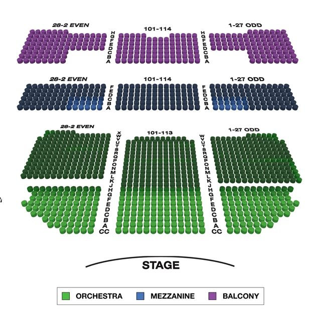 Richard Rodgers Theatre Broadway Seating Charts Broadwayworld Com Richard Rodgers Seating Charts Theater Seating