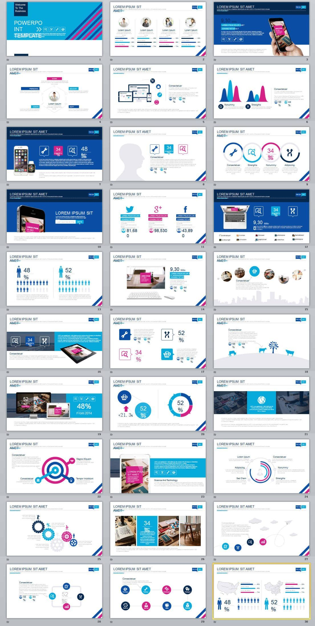 30 multicolor business powerpoint templates business powerpoint 30 multicolor business powerpoint templates the highest quality powerpoint templates and keynote templates download wajeb Gallery
