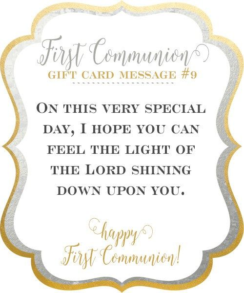 first communion gift message 9