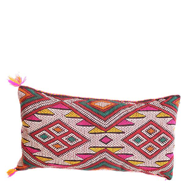 One-Of-A-Kind Kilim Pillow - Babasouk – Exotic hand-weaved Moroccan pillow. Wonderfully eccentric. Truly artistic creations. A delight for you and your interior design. These hand woven pillows are one-of-a-kind unique creations; only 1 of each is available! #americanstore #bohopillow #canadianstore