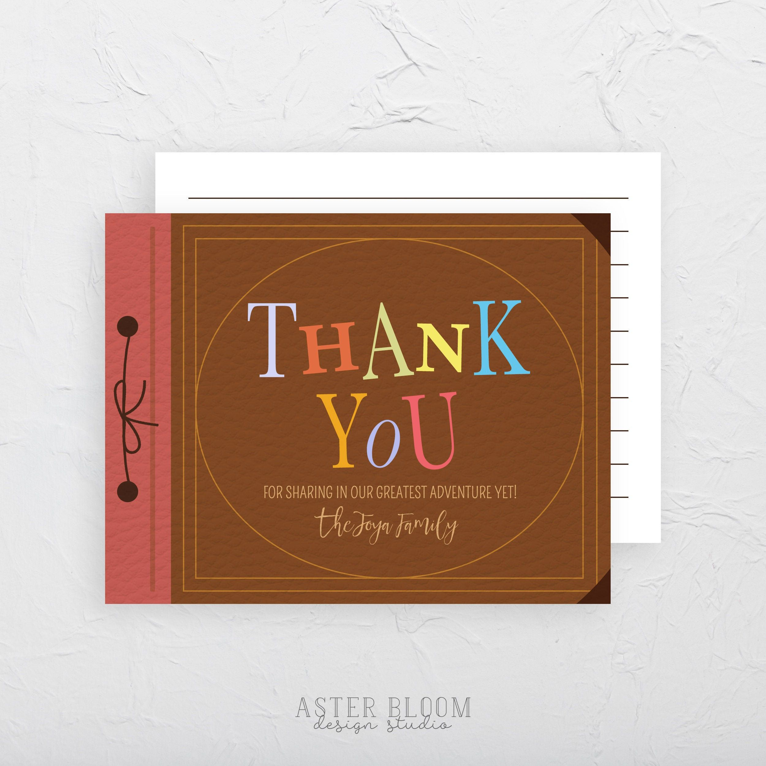 Up Adventure Book Thank You Card Printable Greeting Cards Our Adventure Book Housewarming Card