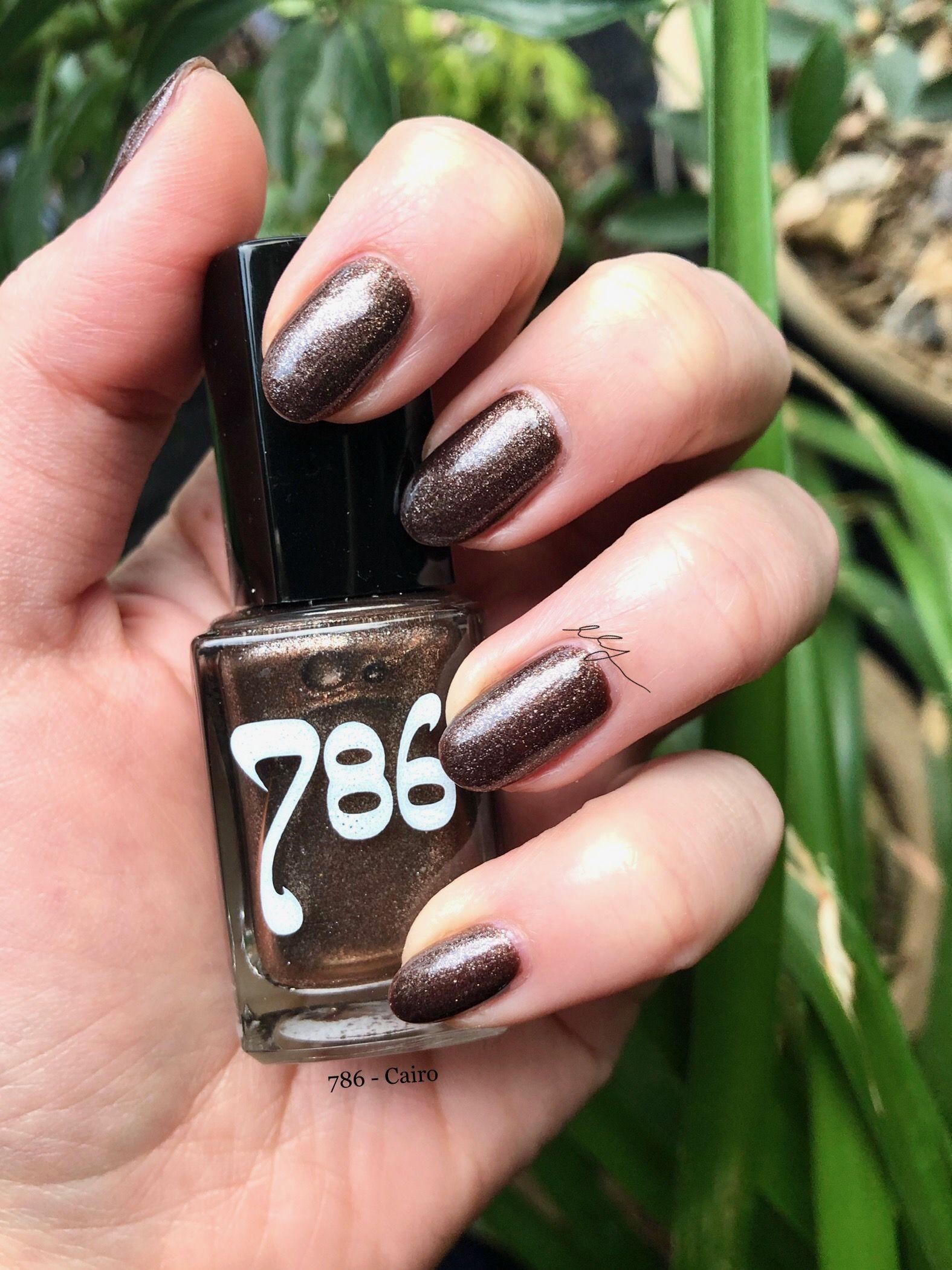 786 Cosmetics - Cairo. Chocolate brown with silver and copper glitter.  Jelly formula. #786cosmetics #cairo #breathablepolis… | Nail polish, Copper  glitter, Manicure