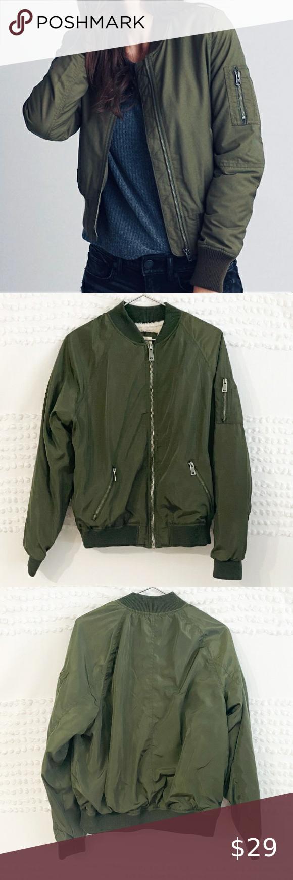 Ashley Outerwear Green Bomber Zip Up Jacket Xl Jackets Bomber Jacket Zip Ups [ 1740 x 580 Pixel ]