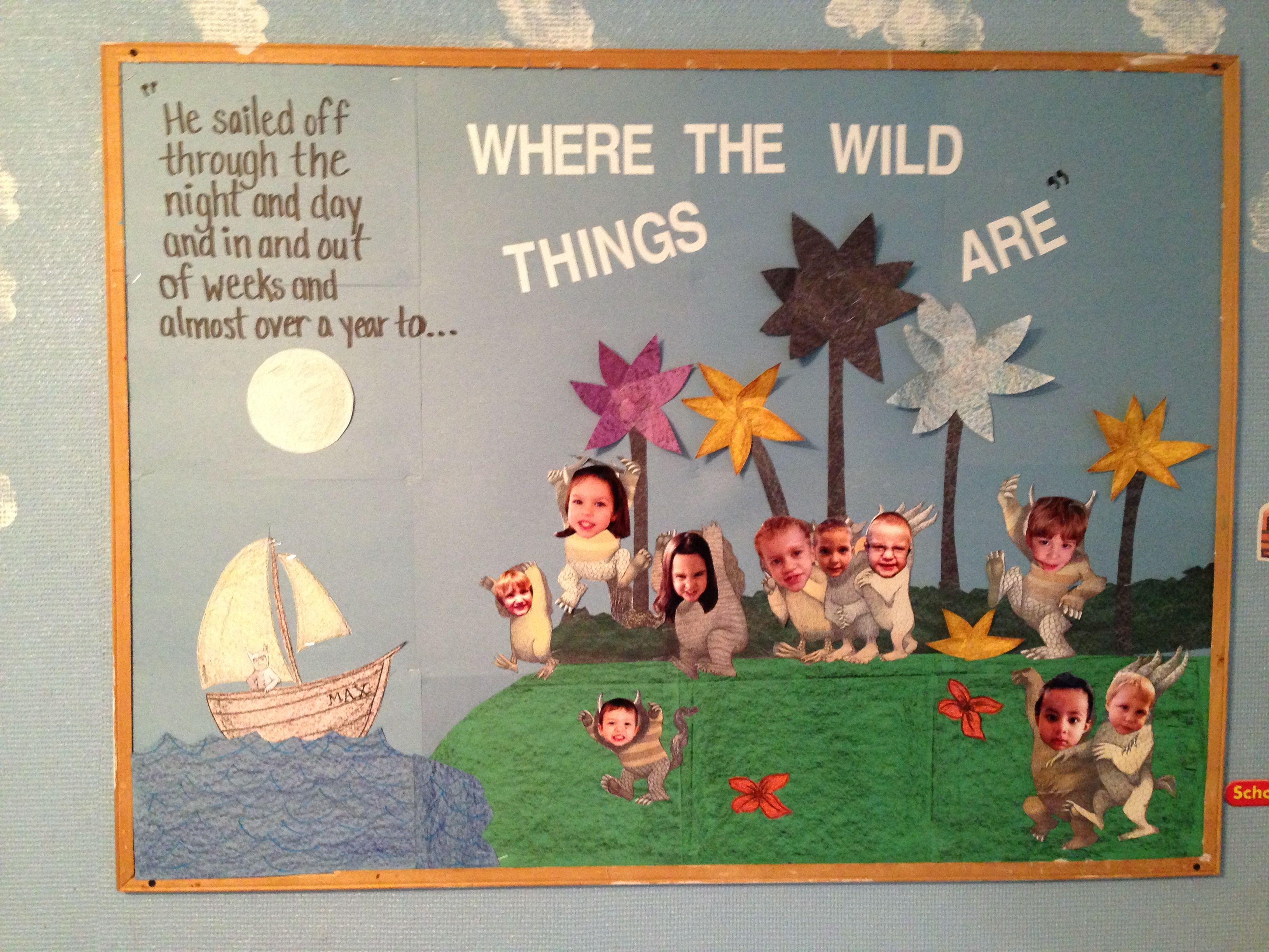 Where the wild things are bulletin board Turned out super cute