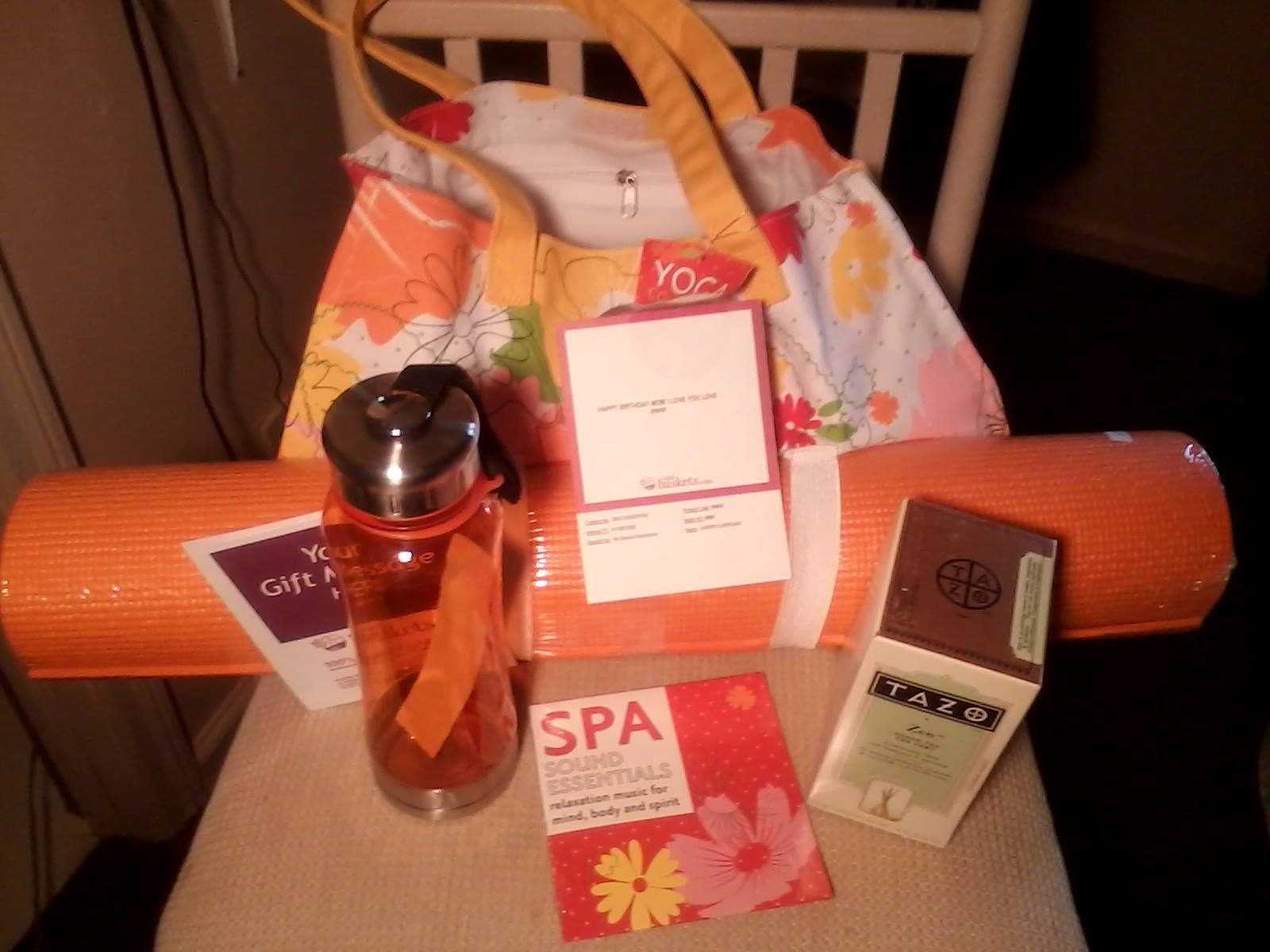 Tazo® Green Tea Spa Yoga Gift Set from . 1800baskets.com. Received ...