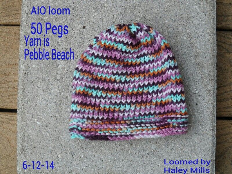 Baby hat made on the All in one loom by KB   Knitting ...