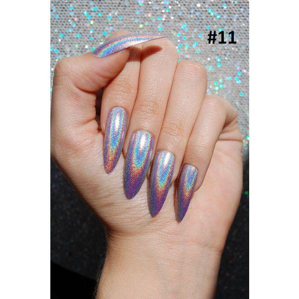 holo nails, holographic nails, fake nails, extra long stiletto nails ...