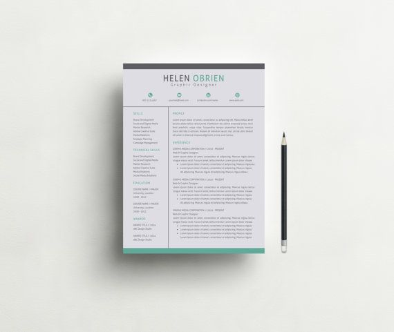 Professional Resume Template CV Template + Cover Letter +