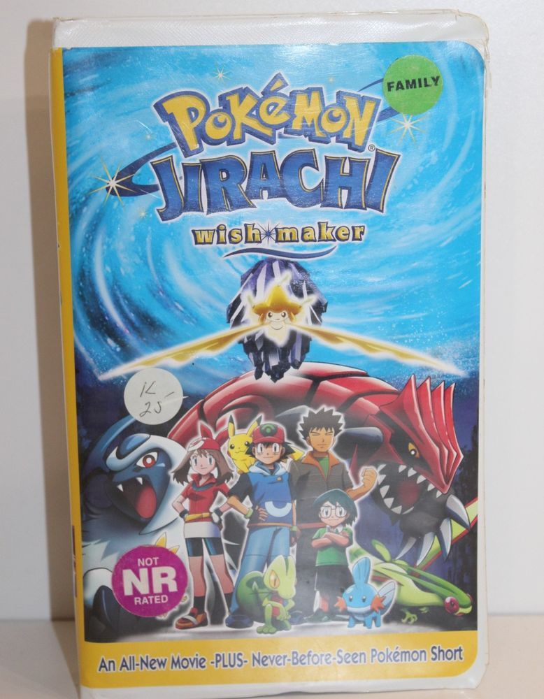 2004 Nintendo Pokemon Jirachi Wish Maker Vhs Tape In Clamshell
