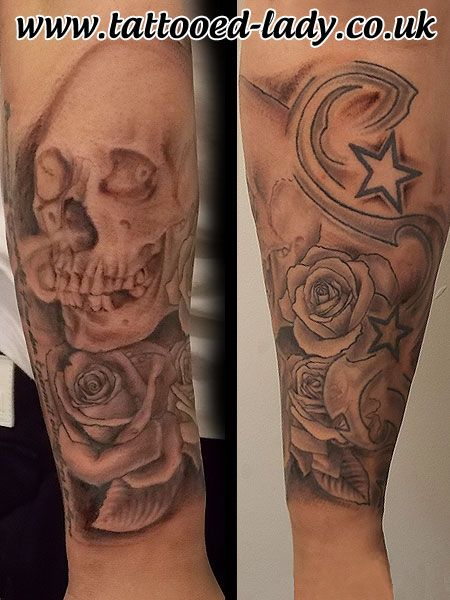 Skull Roses And Stars Tattoo Sleeve Www Tattooed Lady Co Uk Tattoo Skulltattoo Sleevetattoo Tattooedladym35 Tattoos Star Tattoos Tattoos For Women