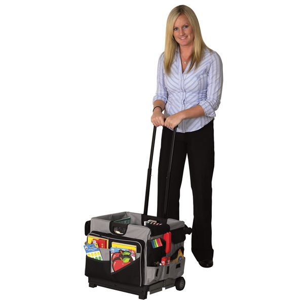 universal cart deluxe wheeled cart with megastorage canvas insert is the ultimate storage