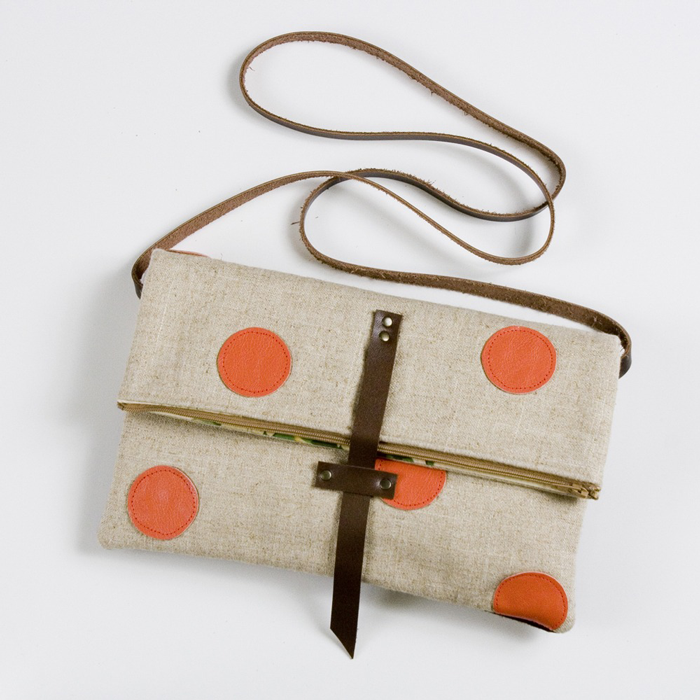 Leather Dots Foldover Bag Uncovet