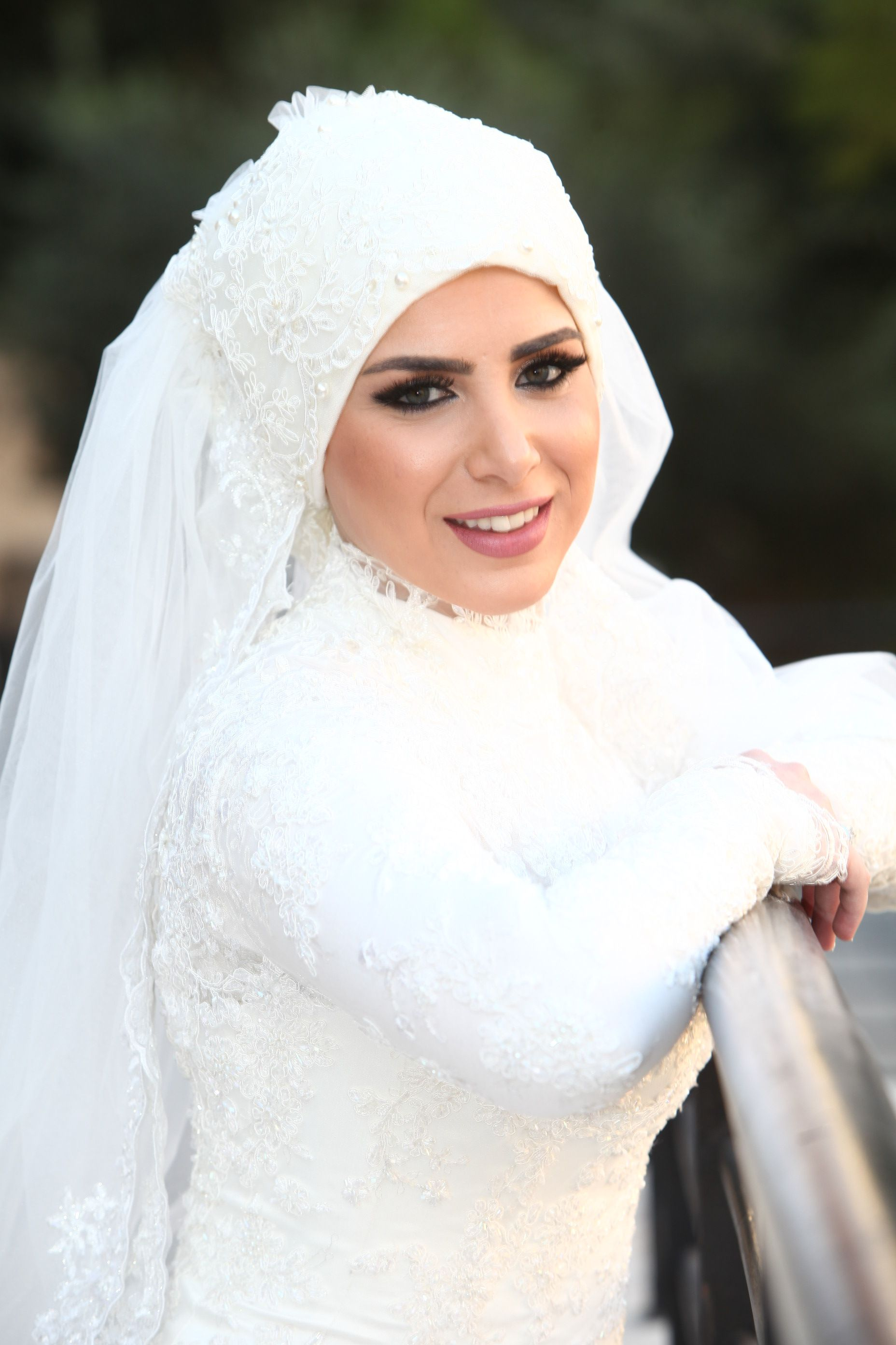 my wedding :) loved my makeup (bridal hijab)   hijab wedding fashion ...