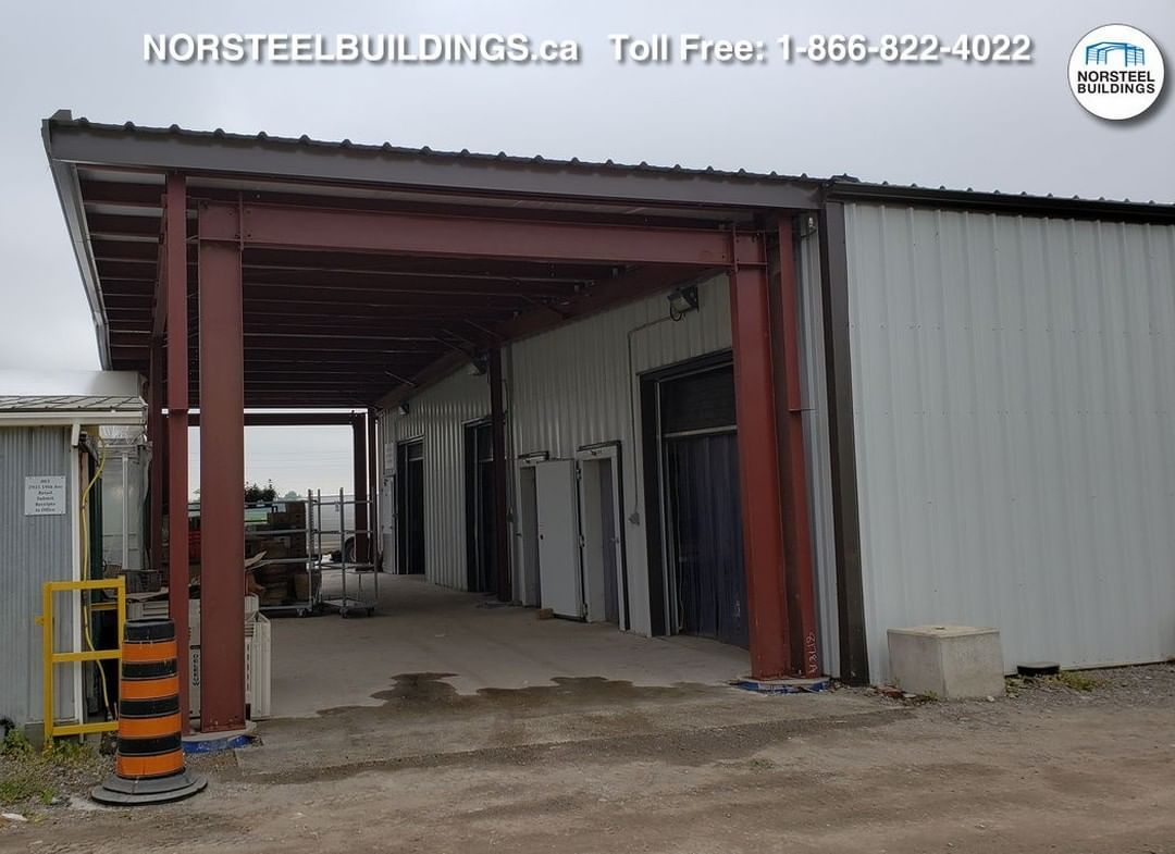 @NorsteelBuildings posted to Instagram: For today's Norsteel Building, we first provided this building as a food grade, agricultural solution to a local food producer, and later, at the customer's request, we sold the canopy to accompany it. #norsteel #norsteelbuildings #steelbuilding #steelbuildings #steel #metalbuilding  #metalbuildings #metal #steelstructure #steelstructures #metalstructure #Canadian #preengineered #preengineeredbuilding #preengineeredbuildings #preengineeredsteel #customdesi