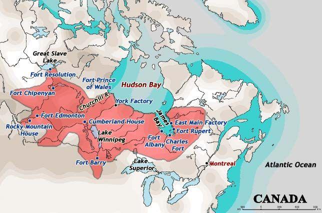 Hudson Bay Company C1780 Lake Superior Hudson Bay Company Atlantic Ocean Canada Average annual precipitation is approximately 500 mm to 700 mm per. hudson bay company c1780 lake