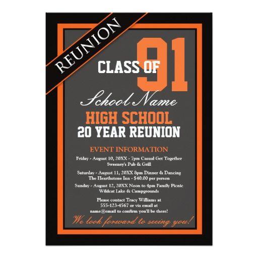 Classy Formal High School Reunion Card Class reunion invitations - best of formal invitation card for meeting