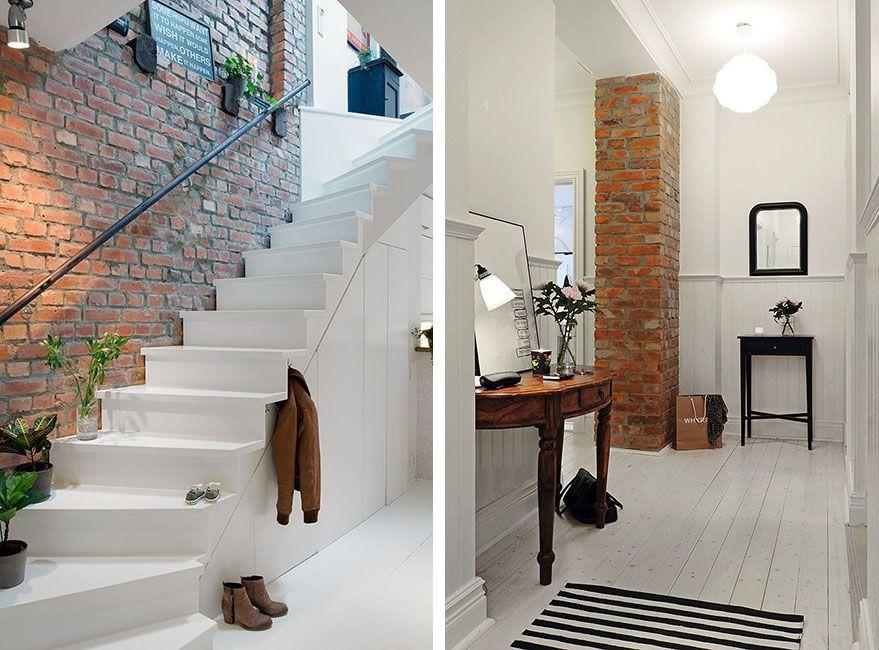 Paredes de ladrillo visto para revestir interiores deco paredes pinterest concrete walls - Decoracion escaleras interiores paredes ...