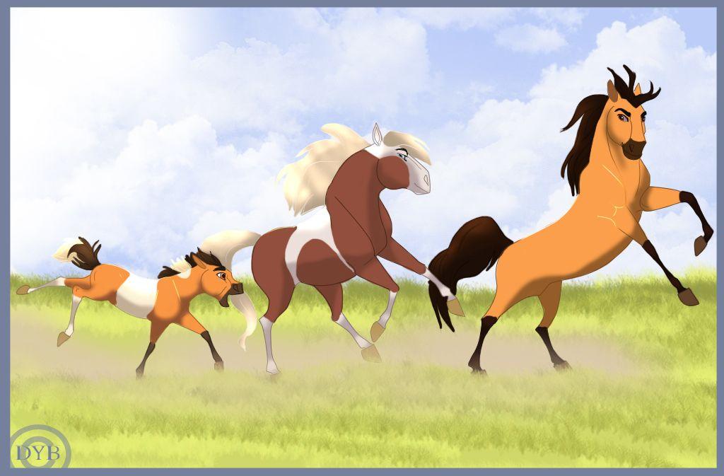 Spirit Rain And Thunder Spirit And Rain Spirit The Horse Spirit Drawing