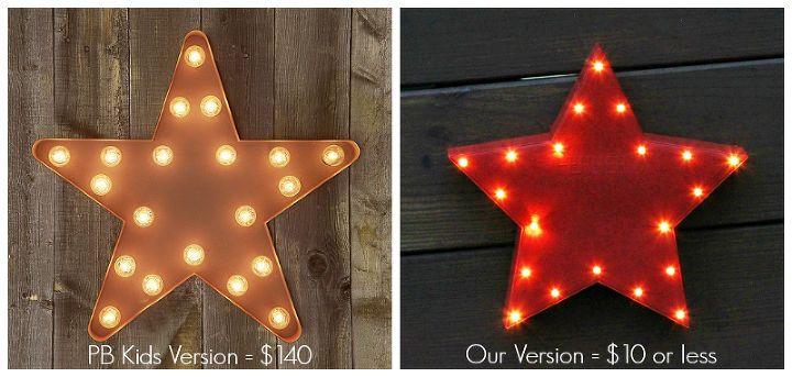Hometalk :: Pottery Barn Inspired Light Up Star Wall Decor