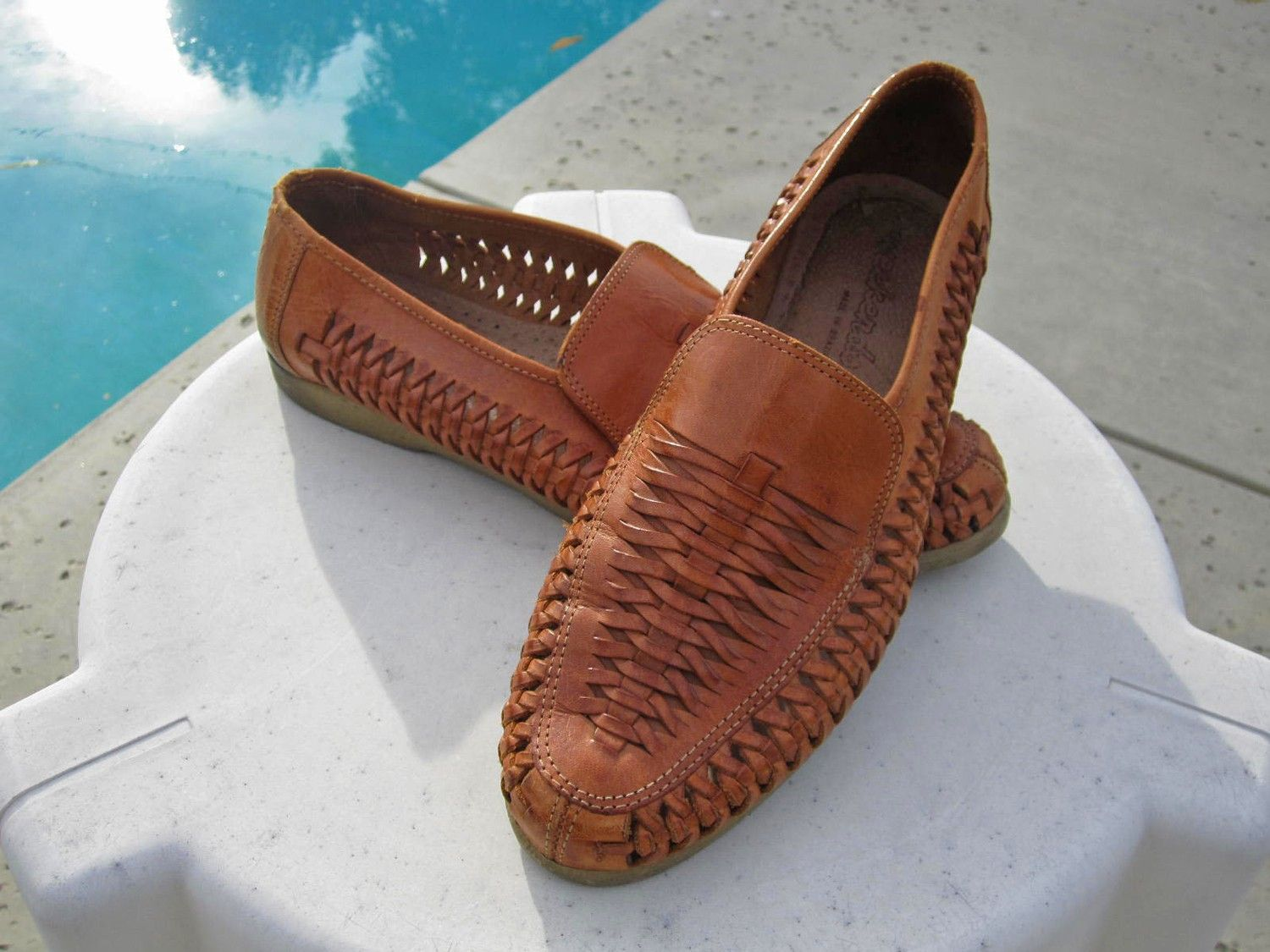 Men's Leather Huaraches Sandals size 10 | Woven leather ...