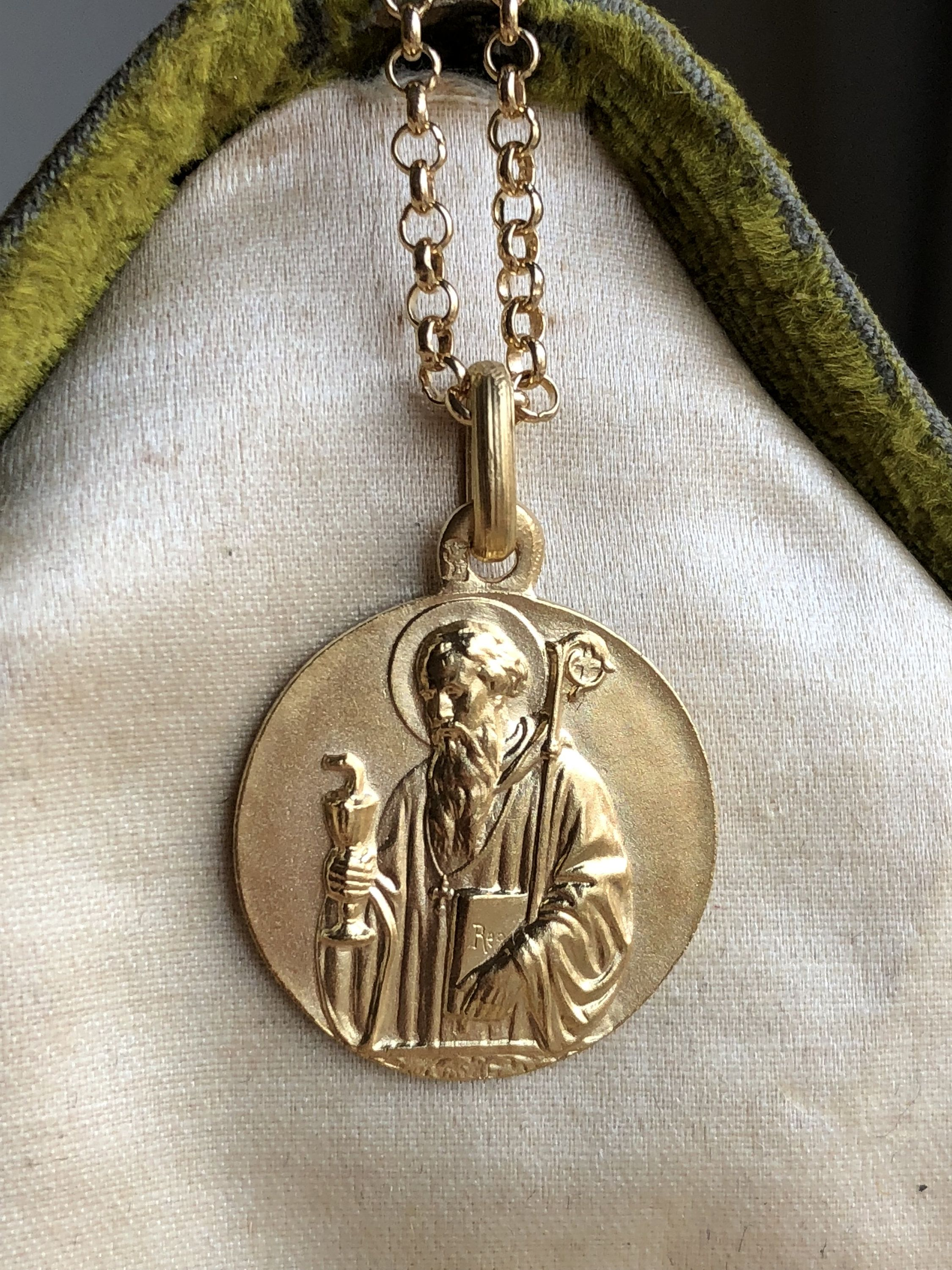 monks cross tag benedict benedictine of st book medal medallion