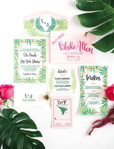 Tropical Watermelon Wedding Inspiration Pinterest Green wedding