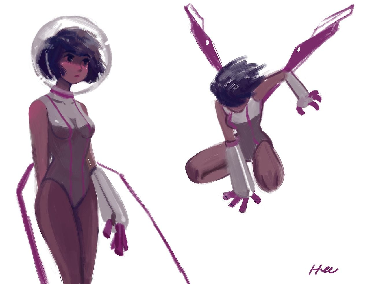 Random Space Girl I Drew Awhile Agoxd Happy Friday Character Art Character Design Character Inspiration