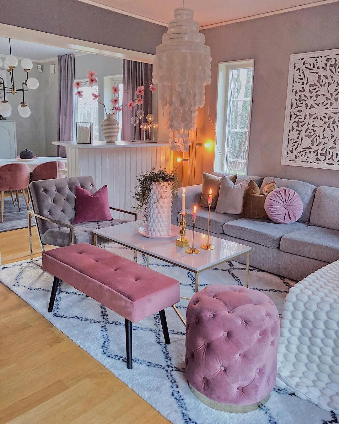 Pink Living Room Decorations #cheaphomedecorstore   Living ...