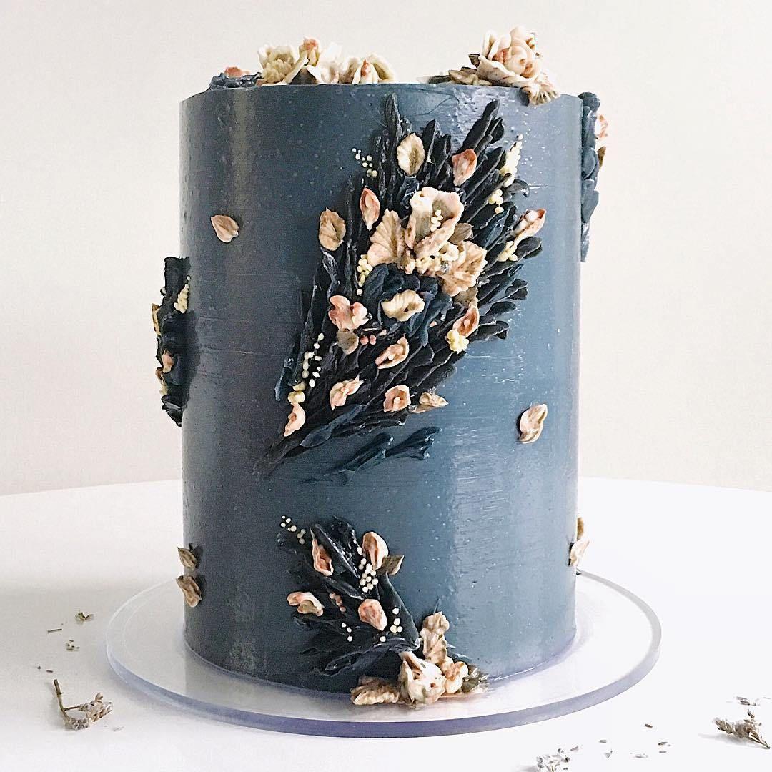 Blue buttercream wedding cake ,wedding cakes #weddingcake #cake