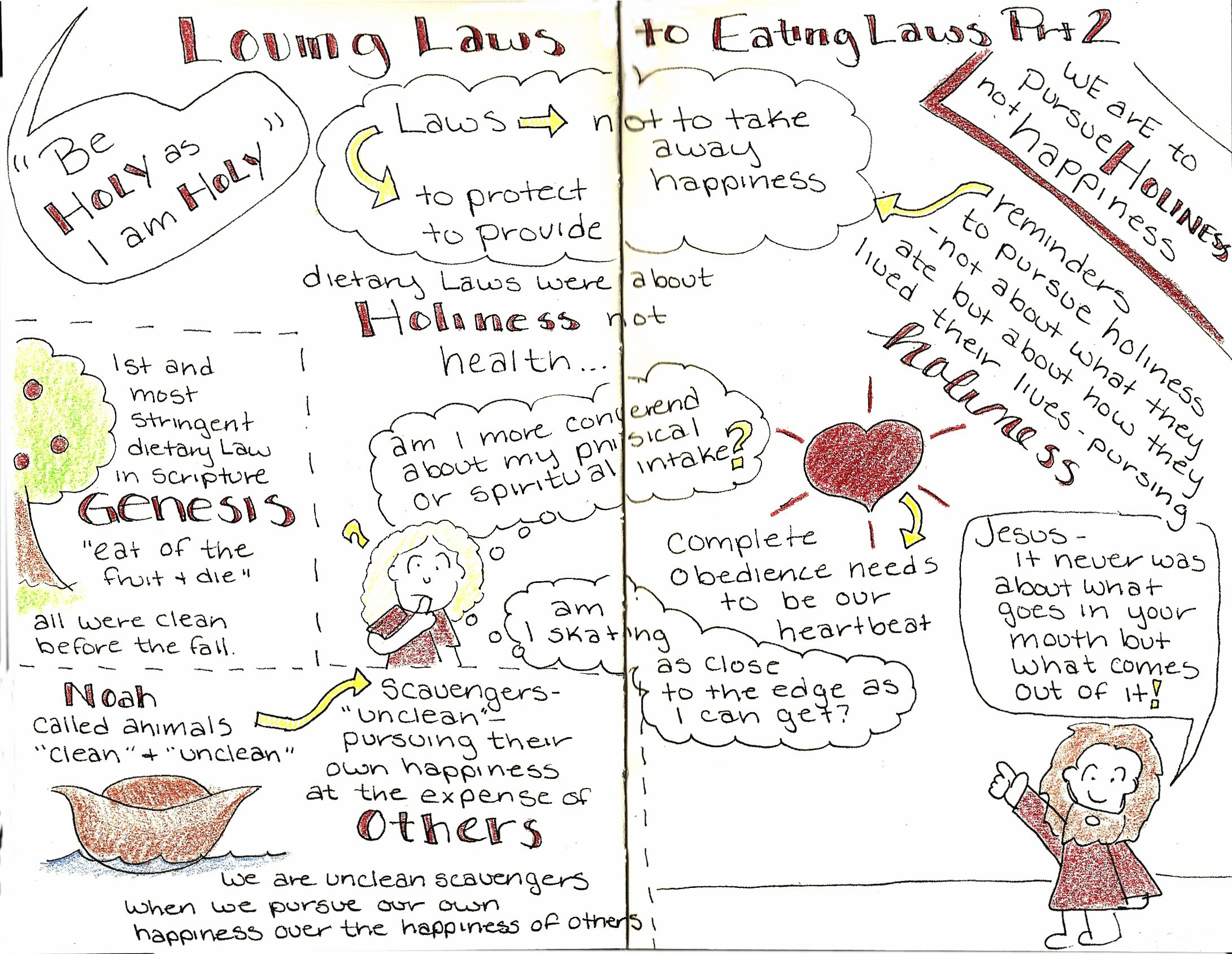 Sketchnotes Fromtary Laws Part 2 Sermon Podcast