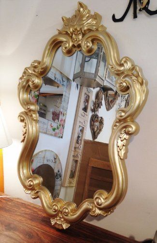Baroque Wall Mirror fairy tale wall mirror - baroque style gold frame (fm428c), http