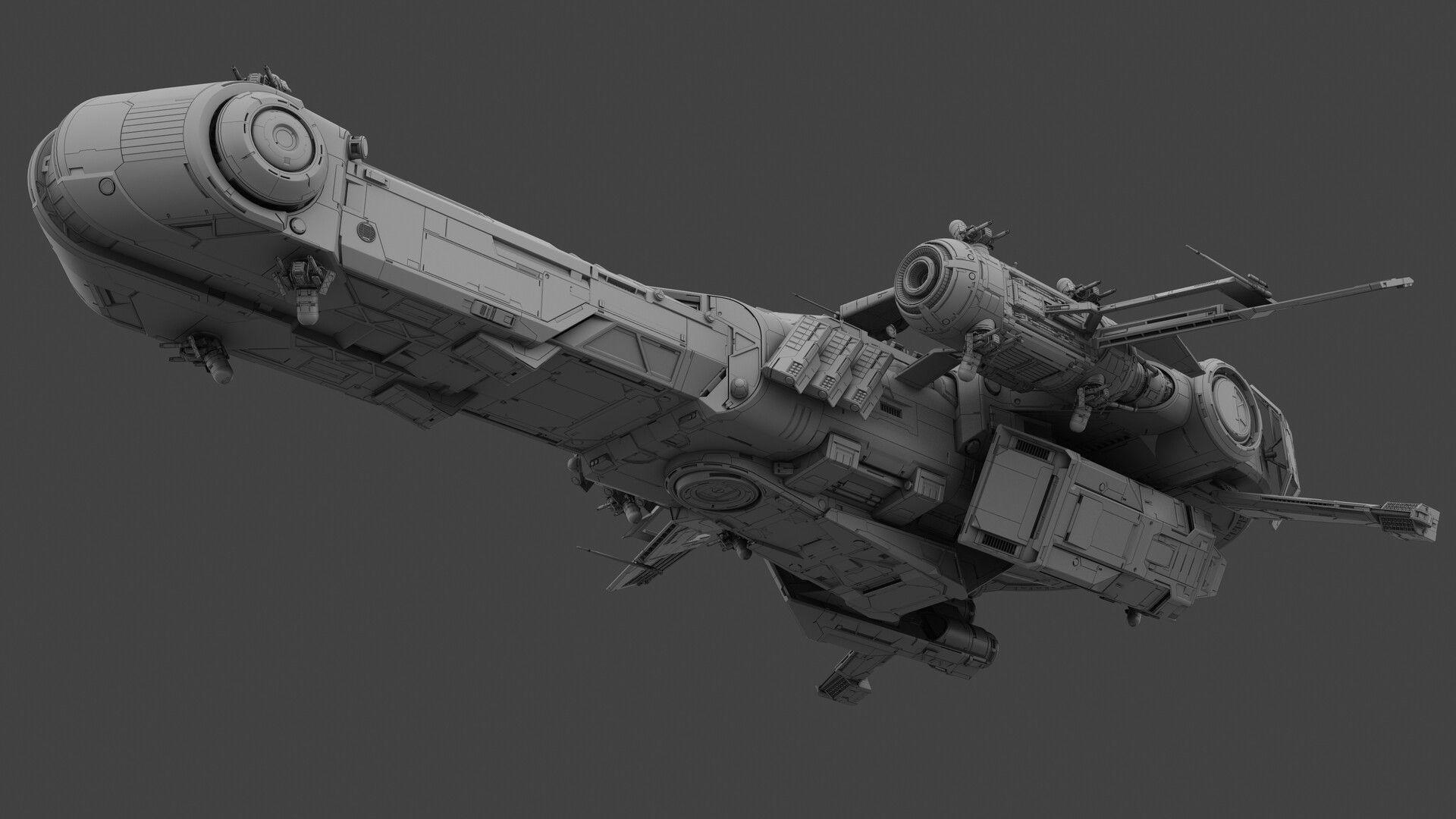 ArtStation battle cruiser, MistFly Games Starship