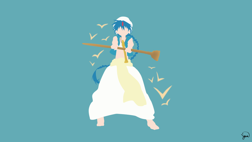 Aladdin (Magi) Minimalist Wallpaper by greenmapple17 on DeviantArt